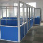 синие офисные перегородки